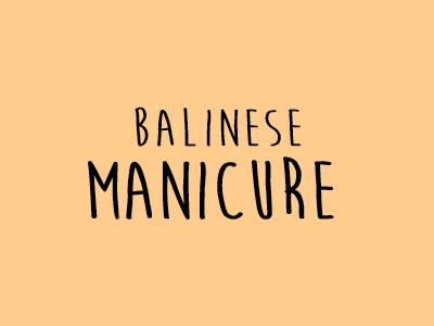 Balinese Manicure Espace Nomad